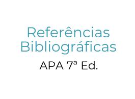 Ação de Formação - Referências Bibliográficas – APA 7ª Ed.